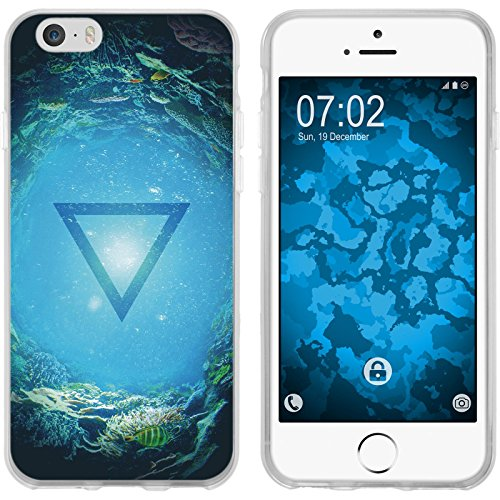 PhoneNatic Case für Apple iPhone 6s / 6 Silikon-Hülle Element Erde M2 Case iPhone 6s / 6 Tasche + 2 Schutzfolien Motiv:04 Element Wasser