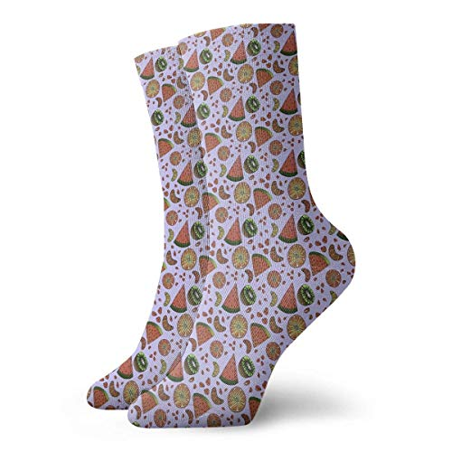 8d3d725aa CHSUNHEY Calcetines de compresi¨®n Unisex Passion Fruit Classic Crew Socks  Breathable Fantasy Ankle