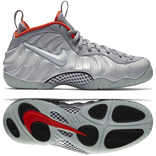 separation shoes d4f92 2bbda Nike Men s Air Foamposite Pro PRM Basketball Shoes, Plateado Gris Pr  Pltnm-WLF