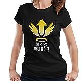 Mercy Heroes Never Die Logo Overwatch Women's T-Shirt