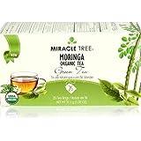 Miracle Tree Moringa Organic Tea - Green Tea 25 Tea Bags (Pack of 2 - 50 Bags)