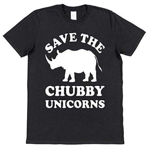 Save The Chubby Unicorns Funny Cotton T-Shirt Rhinoceros
