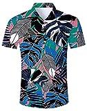 NEWISTAR Camicia Hawaiana da Uomo Manica Corte Modello Stampato 3D Aloha Camicia Uomini