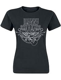 Johnny Cash Eagle Girls Shirt Black