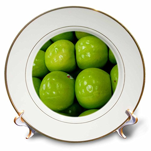 Apple Dekorativen Platten (3drose CP _ 7763_ 1grün apples-porcelain Teller, 20,3cm)