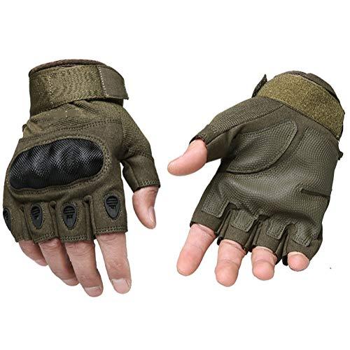 Halbe Fingerhandschuhe Im Freien Rutschfest Reiten Bergsteigen Schutzhandschuhe,M