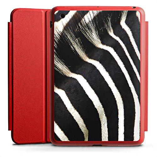 Ipad Case Animal-print (Apple iPad Mini Smart Case rot Hülle mit Ständer Schutzhülle Zebra Dschungel Animal Print)