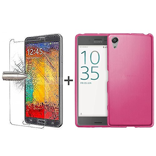 tbocr-pack-pink-tpu-silicone-gel-case-tempered-glass-screen-protector-for-sony-xperia-xa-f3111-f3113