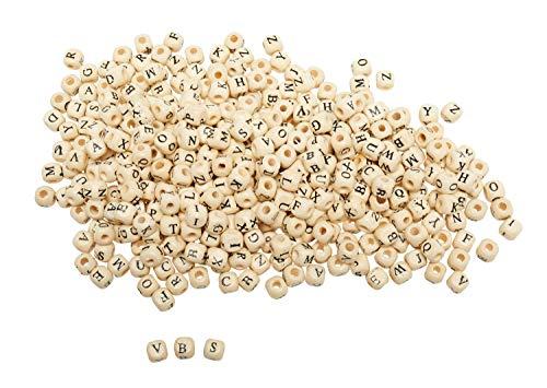 VBS Großhandelspackung 200 g Holz-Buchstabenperlen -