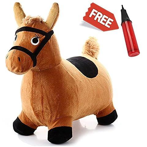 Hopping Horse Ride On Bouncy Animal Toys, Inflatable Horse Hopper