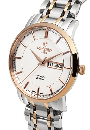 Roamer-Mens-Automatic-Watch-with-Beige-Dial-Analogue-Display-and-Two-Tone-Stainless-Steel-Bracelet-570637-49-65-50