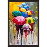 Mad Masters Rainy Day. 1 Piece Wooden Framed Painting |Wall Art | Home Décor | Painting Art | Unique Design | Attractive Frames