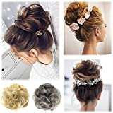UPXIANG Women's Curly Messy Bun Hairpiece Hair Wrap, Scrunchie Scrunchy Updos Twirl Piece Wigs Extensions Hairdressing (E)
