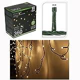 EISREGEN Lichterkette mit 360 LEDs warmweiß für Innen- & Außenbereich 8 Funktionen