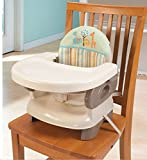 #1: GoodLuck Baybee Comfort Folding Booster Seat|Toddlers Booster Seat for Eating with 3-Point Harness Secures Baby Tightly,Built-in Cup Holder ( Grey )