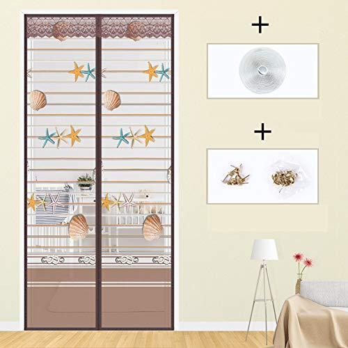 Zanzariera magnetica per balcone porte tenda zanzariera per porte d'ingresso,porte, cortili totalmente magnetica rete di ottima qualità tenda zanzariere,b,120 * 220(47 * 87in)