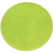 Ularma 40CM Suave baño y ducha de piso dormitorio Mat antideslizante alfombra redonda (verde)