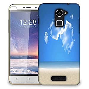 Snoogg Blue Sky Designer Protective Phone Back Case Cover For Coolpad Note 3 Lite