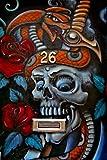 Ein 30,5x 45,7cm Foto von Graffiti Street Art in Camden Town, London NW1Engalnd United Kingdom Fotorahmen Bilderrahmen Portraitrahmen Farbe Fine Art Print. Fotografie von Andy Evans Fotos