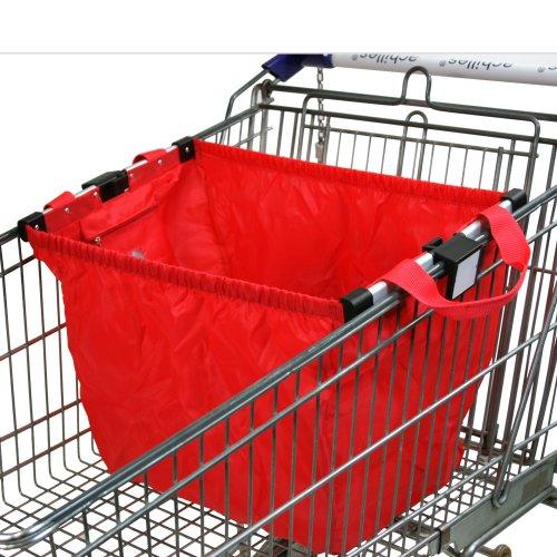 achilles®, Easy-Shopper Mult, AD101Mre, Faltbare Einkaufswagentasche mit Aluminium-Halterung, rot, 33 x 39 x 54 cm