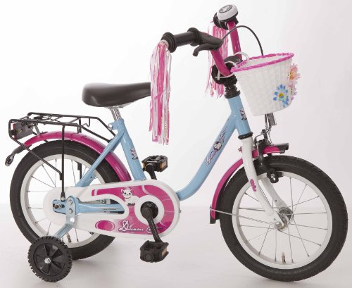 Kinderfahrrad 14\'\' Dream Cat hellblau-pink RH 25 cm Bachtenkirch