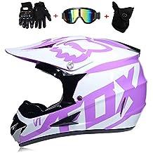 CFYBAO Casco Adulto de Motocross Gafas de Regalo máscara Guantes Fox Moto  Racing Casco Integral para 1719b9daf2e