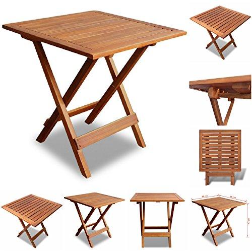 Garden_Living _UK Table d\'appoint de Jardin en Bois d\'extérieur à L\'Huile  Finition Confortable Extrémité Table Patio Solide Meuble 46 x 46 x 47 cm