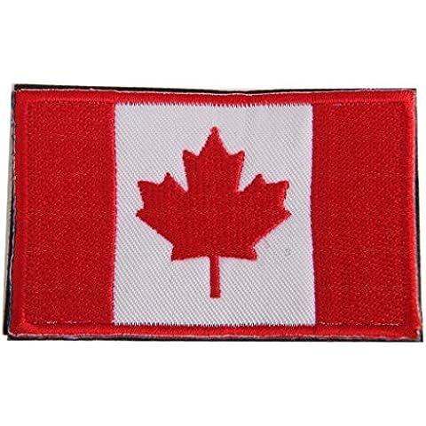 Canadá Bandera De La Hoja De Arce Gancho Bordado Táctico Placa De Sujeción De Bucle