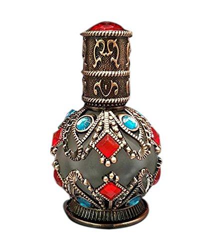 Bouteille de verre parfum portable Bouteille d'huile de sculpture vintage, Bronze