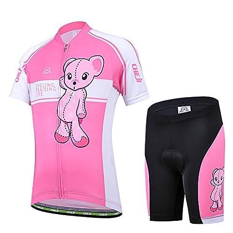 Freefisher Maillot de cyclisme junior manches courtes + cuissard enfant L