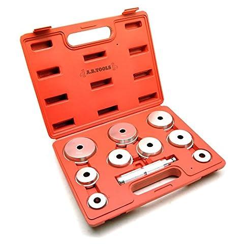 Bearing race seal bush driver set / tool / kit aluminium mm 10pc AT759