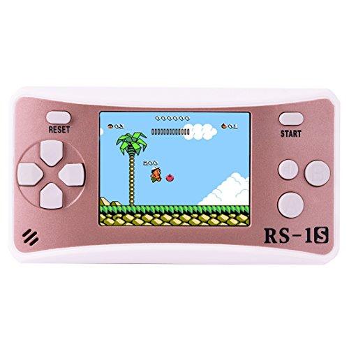 Handheld Spielkonsole Retro Tragbare Spiele Konsolen inkl. 168 80er Klassische Vintage Video Spielen 2.5