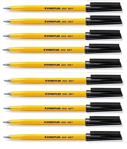 staedtler-stick-430-penne-a-sfera-con-punta-fine-da-03-mm-colore-inchiostro-nero-con-regolazione-del