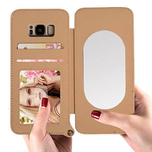 Für Samsung Galaxy S8 Plus / G9550 Matt Denim Textur + TPU Horizontal Flip Ledertasche mit Kartensteckplätzen & Brieftasche & Bilderrahmen & Spiegel & verstellbarer Lanyard HongGXD ( Size : Sas9514k ) (Denim-schlupf)