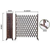 JIANFEI-weilan Steccato Giardino Legno Decorazione del Giardino Struttura per Arrampicata Foldable Resistente alla Corrosione, 4 Taglie (Color : Brown, Size : 150x200cm)