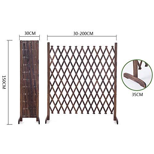 WXQ Gartenzaun Schirm Kinderschutzzaun Partition Zaun Stretching Kostenloser antiseptische Behandlung, 4 Größen (Color : Brown, Size : 120X150CM)