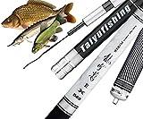Canna da Pesca Fissa - Pesca Carpa Sturgeon telescopica in Fibra Carbonio 5 7 m - Pesci Fino a 15 kg