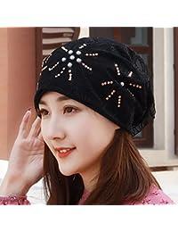 QIER-MZ Nuevo sombrero de primavera verano Sombrero de turbante de flores  Gorra de polvo para mujer Gorro de cabeza Gorro de mes Líquido… eb3fa3fe990