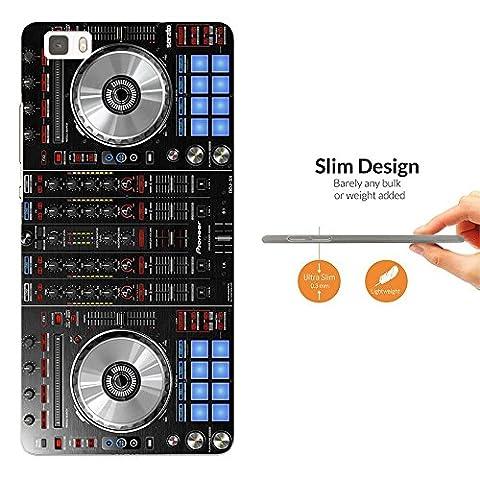 1061 - Cool Fun Dj Mixer Turntable Vintage Retro Music Dance Clubber RnB Hip Hop Rave Club Design Huawei p8 Lite Fashion Trend Leichtgewicht Hülle Ultra Slim 0.3MM Kunststoff Case Protection Hülle