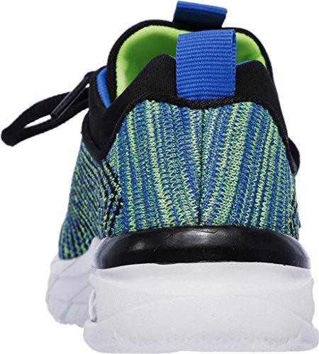 Skechers Kids Mens Air Advantage 97466L (Little Kid/Big Kid) Black/Blue/Lime