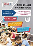 CMA Inter Cost & Management Accounting & Financial Management Mock Test Papers