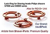 Anneau de verrouillage (plaque de retenue, socle pour rasoir) pour Philips têtes de rasage modèle/type SH70 & SH90 (couleur orange). Série rasoir S7000 S9000