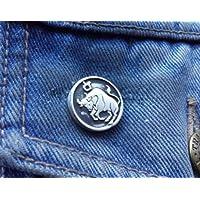 TARUS APRIL20-MAY20 Star Sign Pewter Pin Badge Lapel Brooch FREE UK POST Pewter Pin Badge Belief Faith