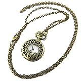 Les Trésors De Lily [P7281] - Uhr zwickel 'Dickens' vergoldet gealtert - 80 cm, 25 mm.