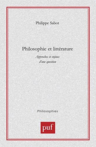 Philosophie et littérature