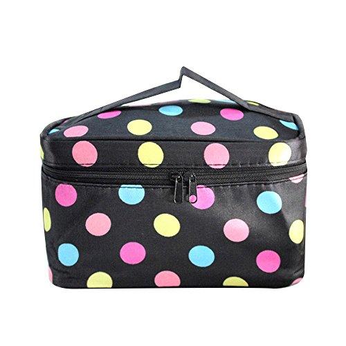 Make-up Taschen für Frauen Reise Portable Kosmetiktasche Große Foldingstorage Wasserdichte Waschbeutel Black
