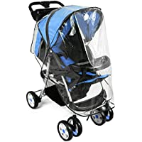 Mture Parapioggia, Parapioggia per carrozzina Antipioggia Universale Passeggino Rain Cover Stroller senza PVC - Transparente