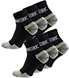 6 Pairs Mens Professional Work Socks, Boot Socks with Reinforced Heel and Toe