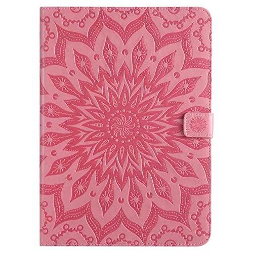yhuisen Sun Flower Printing Design PU Leder Flip Brieftasche Lanyard Schutzhülle mit Card Slot/Ständer für Apple iPad Air/iPad 5 (Samsung Tablet 5 Pro Fälle)