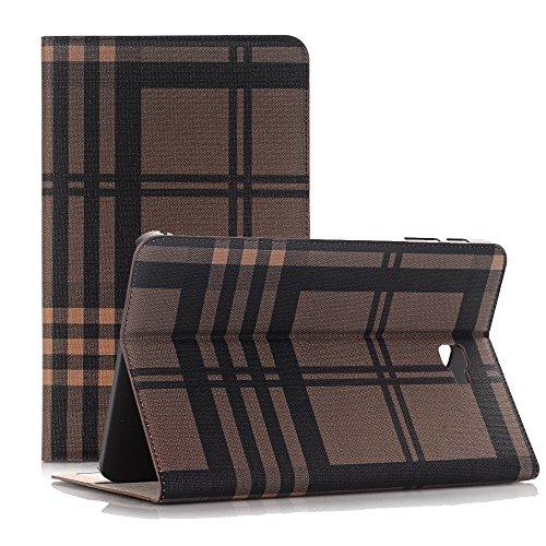 Preisvergleich Produktbild Tab A 10.1 Tasche, TechCode® Premium Bookstyle Leder Tasche Hülle Wallet Card Slot Case mit Smart Auto Wake / Sleep und Standfunktion für Samsung Galaxy Tab A 10.1 SM-T580N / SM-T585N (Braun)